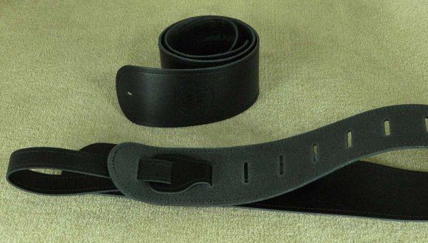 Bainton Black leather guitar strap