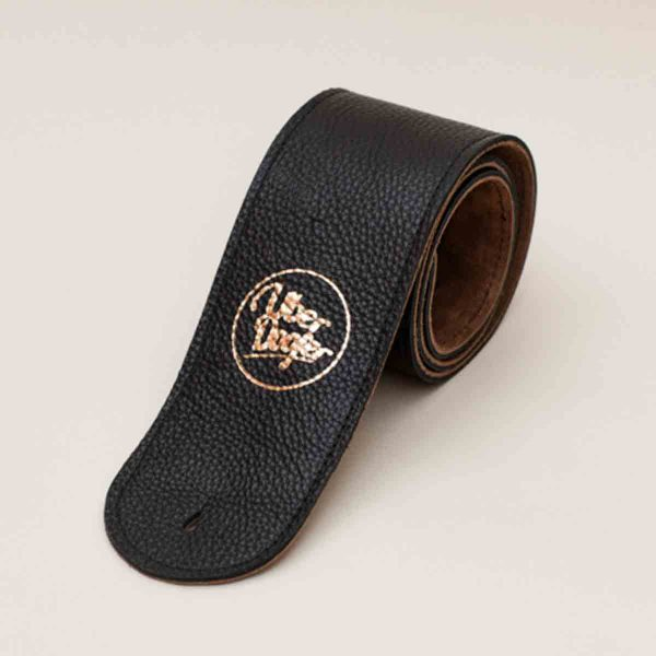 Millington leather guitar strap in black