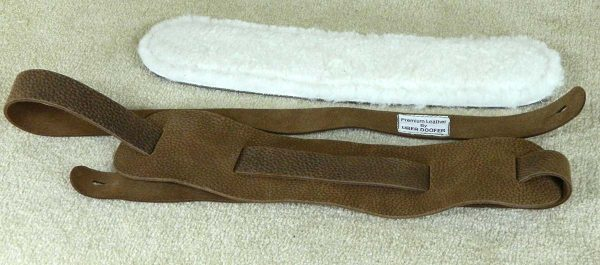 Beswick Standard Lambs Wool leather instrument strap