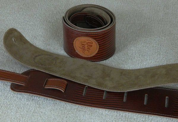 Lisset Lizard leather guitar strap