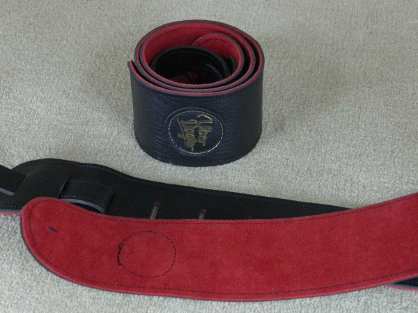 Lisset Red leather guitar strap