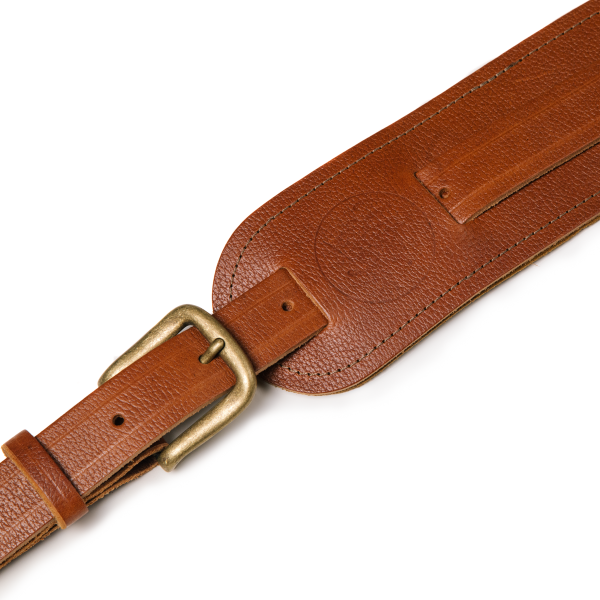 Langtoft tan from Uber Doofer Premium Leather Guitar and Instrument Straps