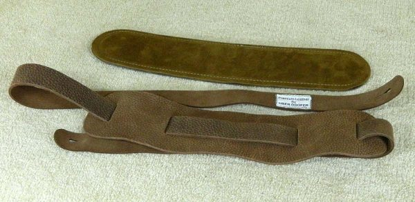 Beswick Suede Lined leather instrument strap