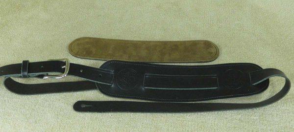 Langtoft Black Standard leather guitar strap