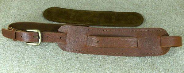 Langtoft Tan Standard leather guitar strap