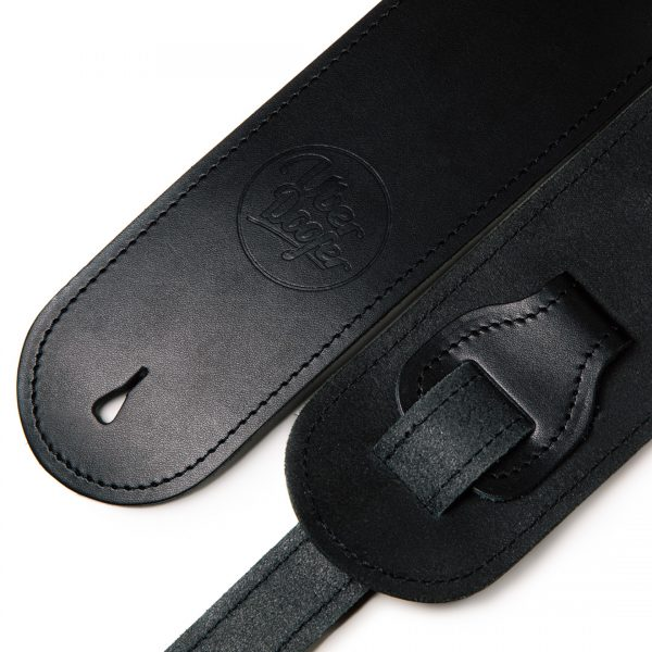 Bainton black premium quality leather guitar straps from Uber Doofer