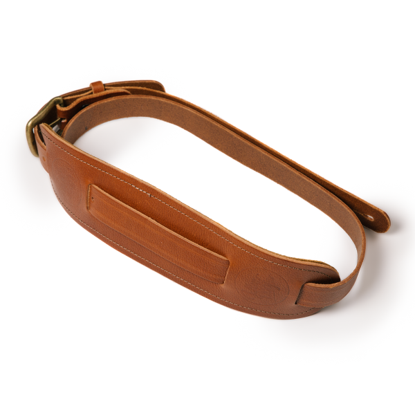 Langtoft tan premium quality leather guitar straps from Uber Doofer