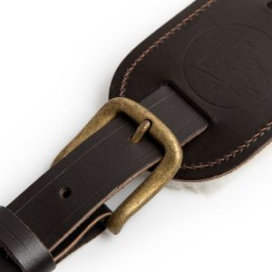 Langtoft brown premium quality leather guitar straps from Uber Doofer
