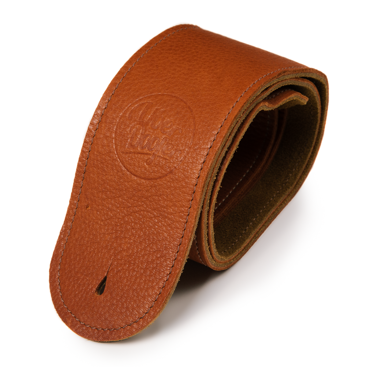 Millington tan deer limited edition premium quality leather guitar straps from Uber Doofer