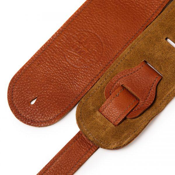 Millington tan deer limited edition premium quality leather guitar straps from Uber Doofer