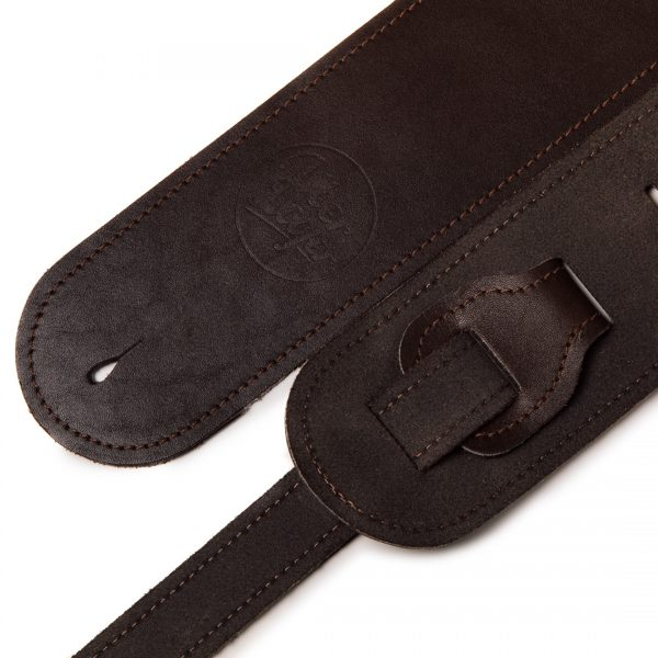Bainton brown premium quality leather guitar straps from Uber Doofer