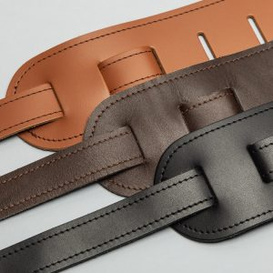 Bainton premium quality leather guitar straps from Uber Doofer