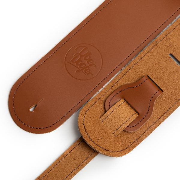 Bainton tan premium quality leather guitar straps from Uber Doofer