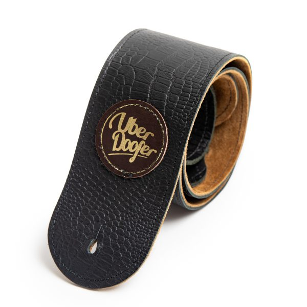 Lisset fawn suede limited edition premium quality leather guitar straps from Uber Doofer