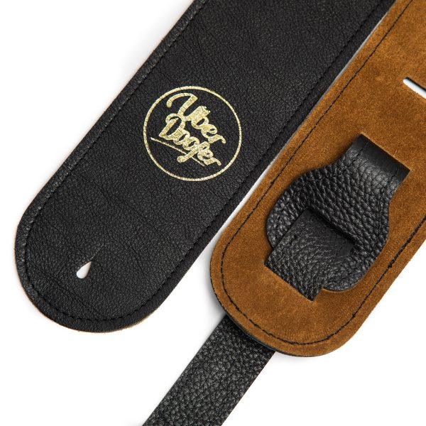 Millington black limited edition premium quality leather guitar straps from Uber Doofer