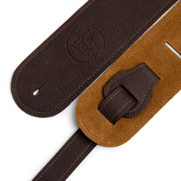 Millington brown deer limited edition premium quality leather guitar straps from Uber Doofer