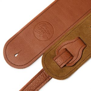 Millington tan limited edition premium quality leather guitar straps from Uber Doofer