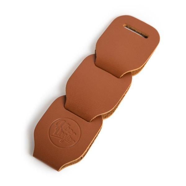 Gembling leather guitar strap tan additional links from Uber Doofer
