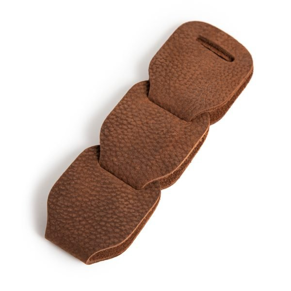 Gembling leather guitar strap distressed brown additional links from Uber Doofer